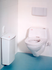 Gemeinschaftstoiletten, Sanitäranlagen, Toilettenbrille, Sitzreinigung, Toilettenkabinen, LadyBox, Damenbinden, LadyCare, Toilettenverstopfung