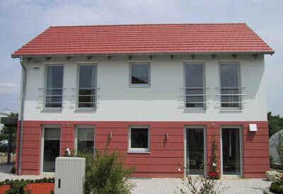 Ziegel-Modulhaus, Niedrigenergiehaus-Standard, Musterhaus, Traumhäuser, Ziegelhaus, Niedrigenergie-Planziegel, Niedrigenergie-Ziegel