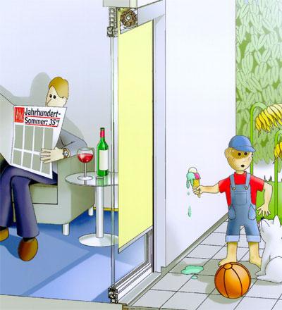 Vorbaurollladen, Sonnenschutz, Sunscreen. Rollladen