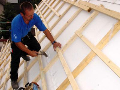 PUR-Dachdämmplatte, Steildach, Aufsparrendämmung, Dachdämmung