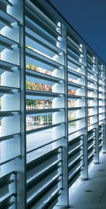 Sonnenschutzlamellen, Sonnenschutzsysteme, Gebäudeklimatisierung