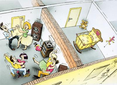 Schallschutz, Schalldämmung, Innenwände, entkoppelte Wände