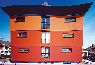 Fassadenfarbe, Hausfassade wird prämiert. Deutscher Fassaden-Preis, Farbgestaltung, Farbkonzepte, Farbe, Hausfarbe, Wandfarbe, Außenwandfarbe