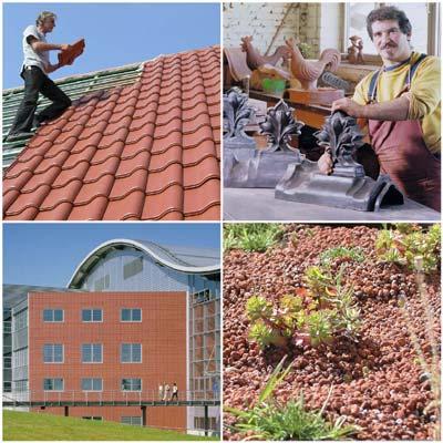 Dach, Wand, Fassade, Dachziegel, Denkmalpflege, ArGeTon, Ziegelfassade, Gründach, Fassadenverkleidung, Flachdach, Dachbegrünung