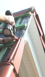Dachdeckung, Ortgang, Großziegel, Dachziegel