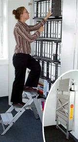 Treppen, Steighilfe, Steigtechnik, Steighilfen, Alutreppe, Alutreppen, Büroleiter