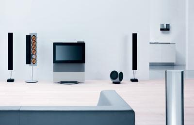 Gebäudeautomation, intelligentes Haus, Multiroom-Konzepte, Unterhaltungstechnik, vernetztes Haus, Hausautomation, Musikanlage, Technik-Haus, Vernetzung, Heimelektronik, Video, DVD-Player, HiFi-Anlage, Dolby Surround, Lautsprecher, Bang & Olufsen, Heimvernetzung, BeoLink, BeoLink-System
