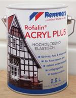 Fassadenfarbe Rofalin Acryl Plus von Remmers Baustofftechnik gegen Vergrünungen, Schimmelbildung, Veralgung