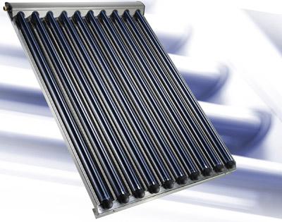 Vakuum-Röhrenkollektor / Sonnenkollektor zur solaren Wassererwärmung und Heizungsunterstützung