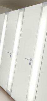 Trennwandsystem NOXX von KEMMLIT-Bauelemente für Toilettenanlagen, WC-Anlagen, Sanitäranlagen, öffentliche Toiletten