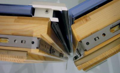 Fensterbeschlag, Holzfenster, 13 mm-Nutachse, Holzfenstersystem, Blendrahmenfreimaße