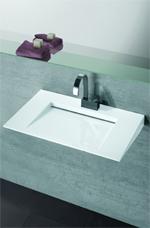 Flach-Waschtisch, Einbaubecken aus glasiertem Stahl, Verbundwerkstoff, Stahlkörper, Stahlwaschtische, Stahlwaschbecken