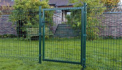 Zaun, Gartenzaun, Garteneinzäunung, Gartenzäune, Zaunsystem, Stahldraht, Doppelstabmatten, Gittermatten, Gartentor