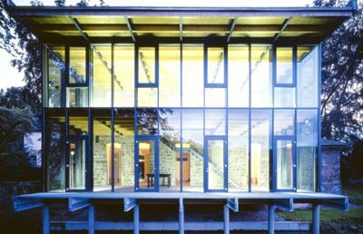 Glasarchitektur, Verglasung, Altbau, KfW-Award 2004, Glasanbau, Energiespar-Fenster, Pfosten-Riegel-Konstruktion