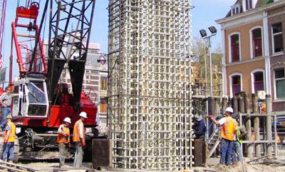 Betonbau, Betonbewehrung, Faserverbundkunststoff, FVK, Stahlbeton, Stahlbetonbau, GFK-Bewehrung, Korrosionsbeständigkeit, Isolierfähigkeit, Bauverfahren, Tunnelbau, Balkon, Wärmeleitfähigkeit