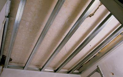 freitragende Decke, Bestandsdecke, Deckenverkleidung, Modernisierung, Deckenkonstruktion, Holzbalkendecke, Massivdecken, Luftschalldämmung, Trittschalldämmung, Wohnungstrenndecken, Brandschutz, Schallschutz, Luftschall, Trittschall