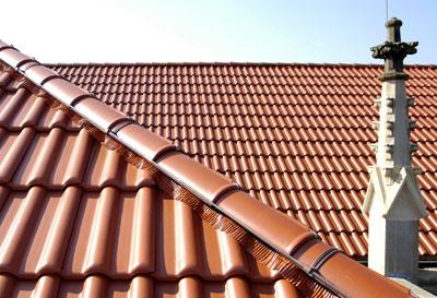 Dachziegel, Großflächenziegel, Dacheindeckung, Flächenziegel, Denkmalschutz, Ziegel, Tondachziegel, Regensicherheit, Dachneigung