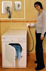 Erdgas-Steckdose, Erdgassteckdosen, Erdgasgeräte, Erdgas-Wäschetrockner, Erdgas-Herd