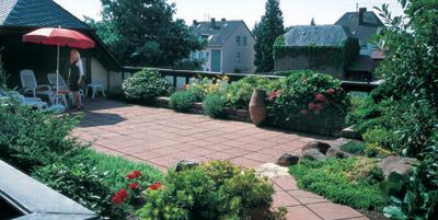 Dachbegrünung, Gründach, Gründächer, intensive Dachbegrünung, begrüntes Dach, Intensivbegrünung