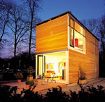 Holzhaus, temporäre Bauten, Holzbauweise, Holzbau