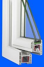 Schallschutzfenster mit Schallschutzverglasung in Schallschutzklasse 5, Einfachfenster, Anschlagdichtung