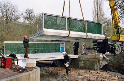Brückenbau, Fahrbrücke, verstärkter Kunststoff, Straßenbrücke, glasfaserverstärkter Kunststoff, Brückenkonstruktion, GFK-Brücke, Betonbrücke, Stahlbrücke, ASSET-Projekt, Advanced Structural SystEms for Tomorrow's