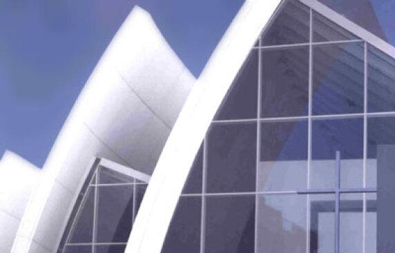 """Chiesa del Dio Padre Misericordioso, auch """"Jubiläumskirche"""" genannt, von Richard Meier"""