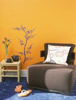 Farbtrends, Farbgestaltung, kräftige Wandfarben, Terrakotta, Wandmalerei, Wohnaccessoires