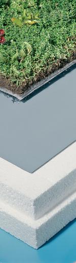 Dachbegrünung, Dachabdichtung, Gründachaufbau, Flachdachbahnen, Gründach-Bahn, Wurzelfestigkeit, Dachbahn, Dachbahnen, Abdichtung, Begrünung