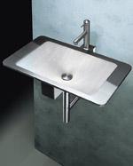 Waschbecken, Waschtisch, Waschtische, code.2.design, Edelstahl, Silikon, Armatur