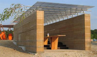 Ausstellung, Architekt-Retrospektive, Hochschule für Technik Stuttgart, Bauen mit Recycling-Materialien, experimentelles Bauen