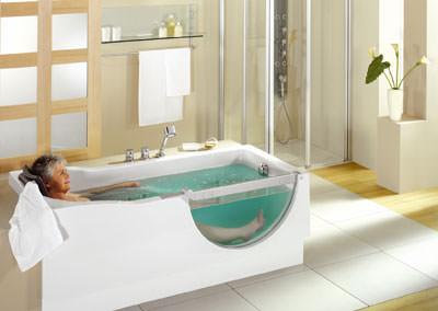 barrierefreie Badewanne, Duscholux-Badewanne mit Tür, Behinderten-Badewanne, Acrylwanne, Acrylbadewanne, Badewannen, Badausstattung