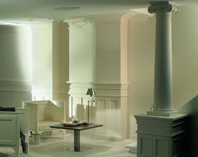 Säulen, Säule, Stuck, Innenausbau, Innenarchitektur, Innenraumgestaltung, klassische Architektur, Säule, Kapitell, Säulenbasis