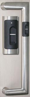 Stoßgriff, biometrische Zutrittskontrolle, Zutrittskontroll-System, Biometrie, Fingerabdruck, Fingerprint