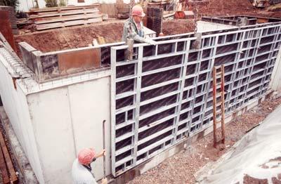 Betonbau, Betonschalung, Großtafel, Wandschalung, Schaltafel, Rahmenschalung
