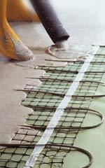 elektrische Fußbodenheizung, Fliesestrich