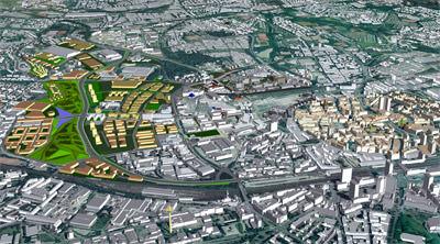 Stadtplanung, Städtebau, GIS-Software, Dachlandschaften, Stadtlandschaften, Liegenschaftskarten, Luftbilder, Fakultät für Geowissenschaften der Ruhr-Universität Bochum, Geographisches Institut