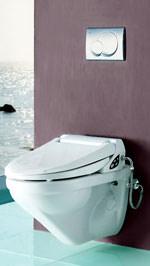 Dusch-WC, WC-Dusche, Toilette, Toilette-WC, WC-Toilette, WC, Wellness, Geruchsabsaugung, Lady-Dusche, wandhängendes WC, wandhängende Toilette, Wasseranschluss, DoucheWC, Douche-WC, Elektroanschluss