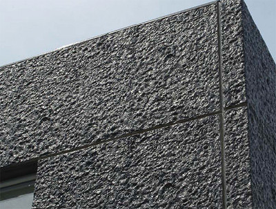Strukturmatrizen, Betonschalung, Rahmenschalung, NOEplast, Schalungsträger, aufgeklebte Betonstruktur Granit III, PU-Matrize