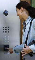 Fingerabdruckerkennung, Fingerabdruckleser, biometrische Zutrittskontrolle, Türsprechanlage, Electronic-Key, Fingerabdruck, Schließanlage, Alternative, Schlüssel, Schloss, Wohngebäude, Wohnhaus