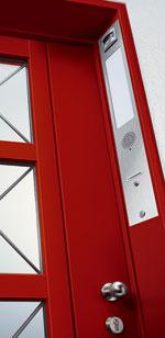 Hauseingang, Haustür, Haustüröffner, Haustürbeschlag, Lichtschalter, Gegensprechanlage, Videoeinheit, Türenhersteller