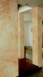 Wandgestaltung, Spachteltechnik, mineralische Spachtelmasse