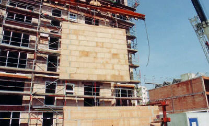 Fertigwand, Fertigwände, Mauerwerk, Ziegel-Elementbauweise, Ziegel-Wandelement, vorgefertige Ziegelwände