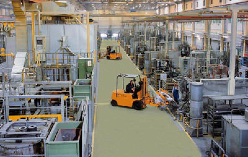 Bodenbeschichtung, Industrieboden, Fußbodenbeschichtung, Versiegelung, Industrieböden, Boden, beanspruchte Böden, wasserverdünnbare Epoxidharz-Versiegelung