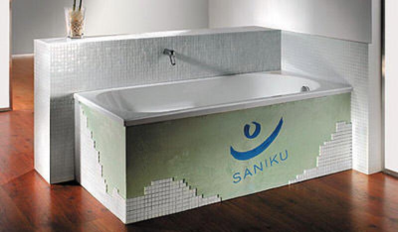 Badewanne, Badewannen, angeschäumter Wannenträger, eingebauter Wannenträger, Abfluss, Fliesenkleber, Wannenfüße, Wannenverkleidung, Bad-Sanierung