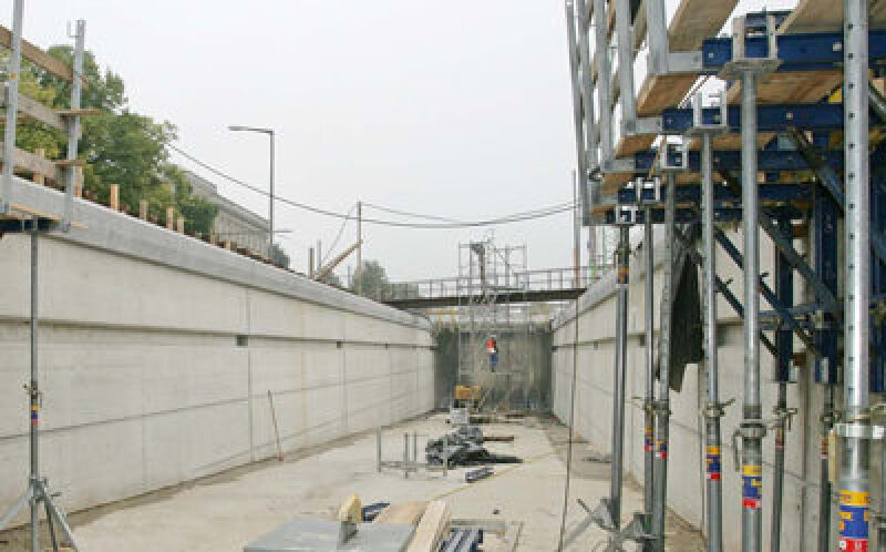 Sichtbeton, heller Zement, Sichtbetone, Massenbeton, Kunst am Bau, Bindemittel, Optacolor, Betonoberflächen, Ingenieurbauwerk