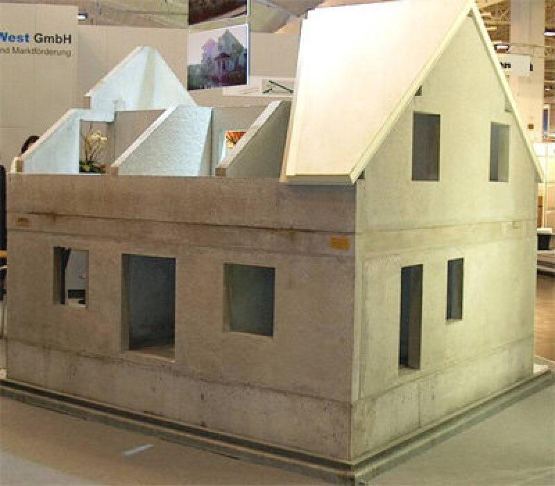 Betonkeller, Betonwand, Betondach, Zement, Beton, Betonweise, Betonbauweise, Wohnungsbau, Betonwände, Betonbauteile, Weiße Wanne, Leichtbeton-Fertigteile