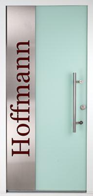 Glasdesign-Haustüren, Kunststoffhaustüren, Vollblatttüren