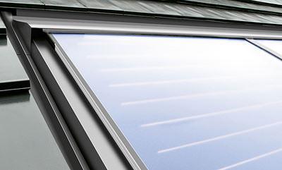 Flachkollektor, Solarkollektor, Solarkollektoren, Flachkollektoren, erneuerbare Energien, Sonnenenergie, Gas-Warmwasserthermen, Thermotechnik, solare Trinkwassererwärmung, Warmwassertherme, Doppelmäander
