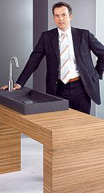 Hansgeorg Derks, Vorstand Marketing und Vertrieb bei der Hansa Metallwerke AG
